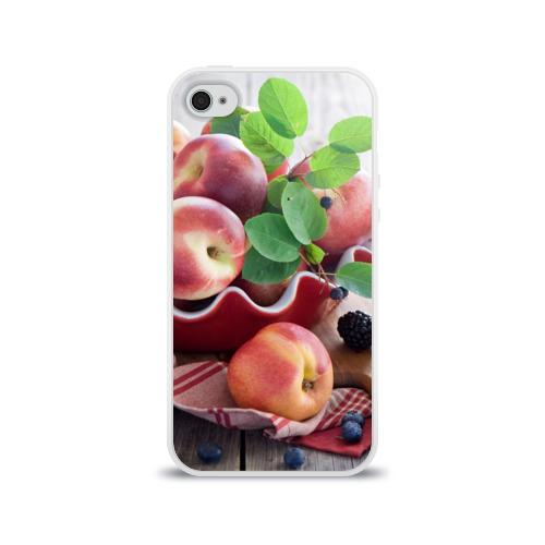 Чехол для Apple iPhone 4/4S силиконовый глянцевый  Фото 01, Персики
