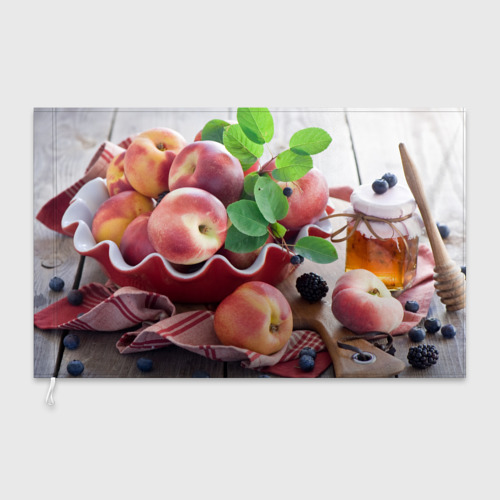 Флаг 3D Персики Фото 01