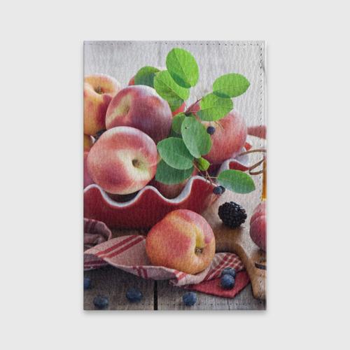 Обложка для паспорта матовая кожа Персики Фото 01