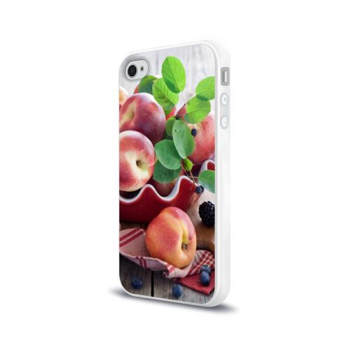 Чехол для Apple iPhone 4/4S силиконовый глянцевый  Фото 03, Персики