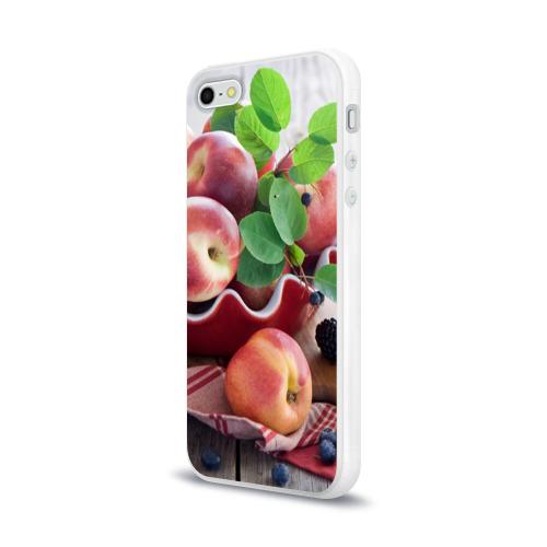 Чехол для Apple iPhone 5/5S силиконовый глянцевый Персики Фото 01
