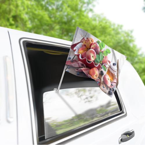 Флаг для автомобиля Персики Фото 01