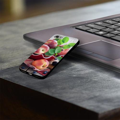 Чехол для Apple iPhone 8 силиконовый глянцевый Персики Фото 01