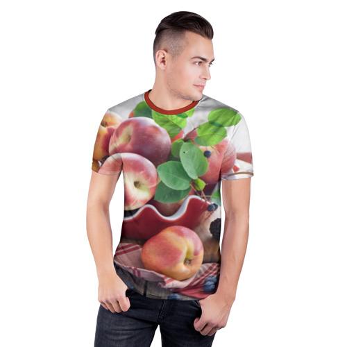 Мужская футболка 3D спортивная Персики Фото 01