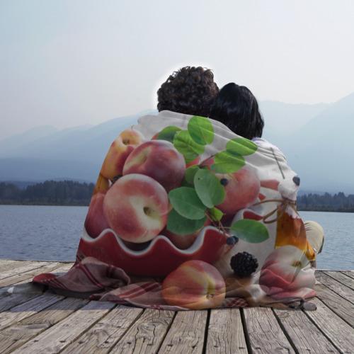 Плед 3D Персики Фото 01