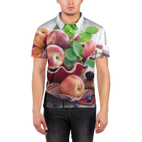 Мужская рубашка поло 3D Персики Фото 01