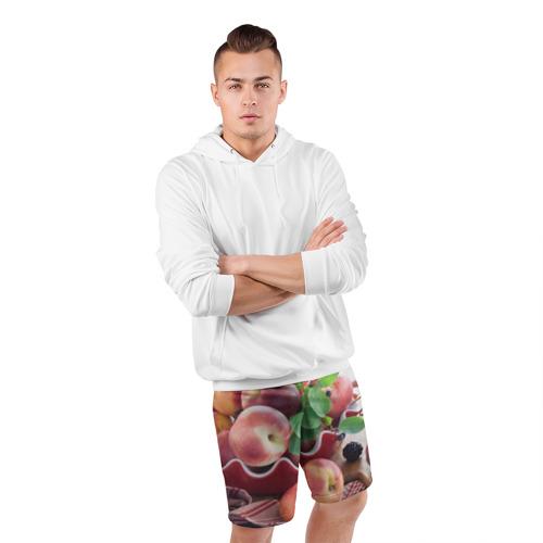 Мужские шорты 3D спортивные  Фото 05, Персики