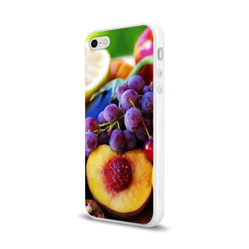 Чехол для Apple iPhone 5/5S силиконовый глянцевый  Фото 03, Спелые фрукты