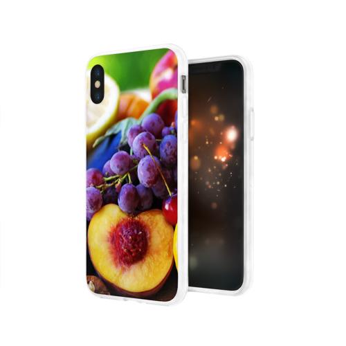 Чехол для Apple iPhone X силиконовый глянцевый  Фото 03, Спелые фрукты