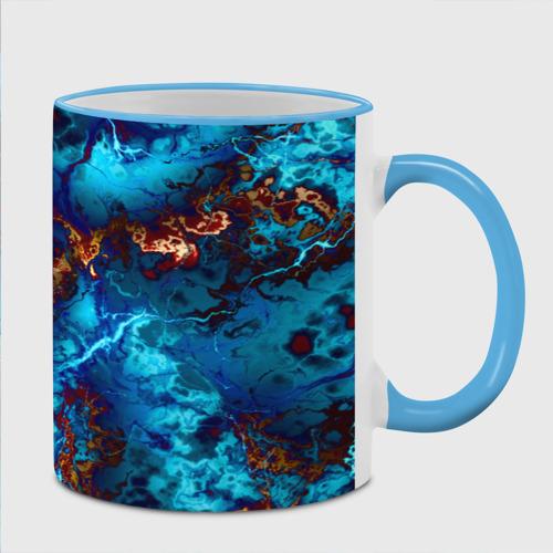 Кружка с полной запечаткой  Фото 02, Голубые волны