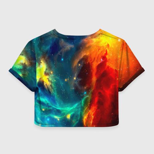 Женская футболка 3D укороченная  Фото 02, Atlantis nebula