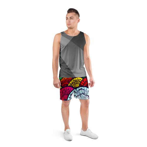 Мужские шорты 3D спортивные  Фото 04, Восток