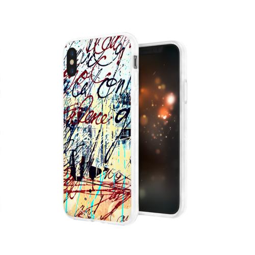 Чехол для Apple iPhone X силиконовый глянцевый  Фото 03, Курсив