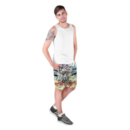 Мужские шорты 3D Курсив Фото 01