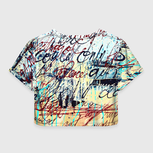 Женская футболка 3D укороченная  Фото 02, Курсив