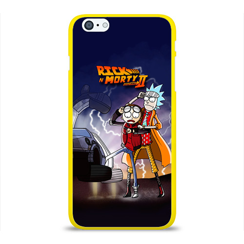 Чехол для Apple iPhone 6/6S Plus силиконовый глянцевый Рик и Морти от Всемайки