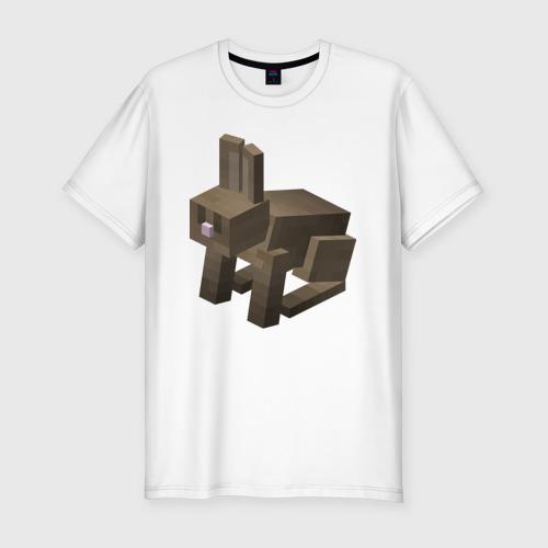 Мужская футболка премиум Заяц Фото 01