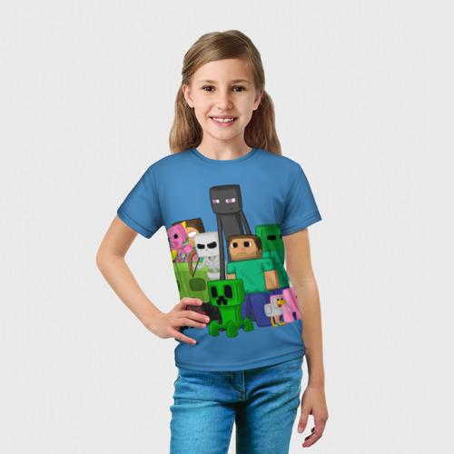 Детская футболка 3D Майнкрафт Фото 01