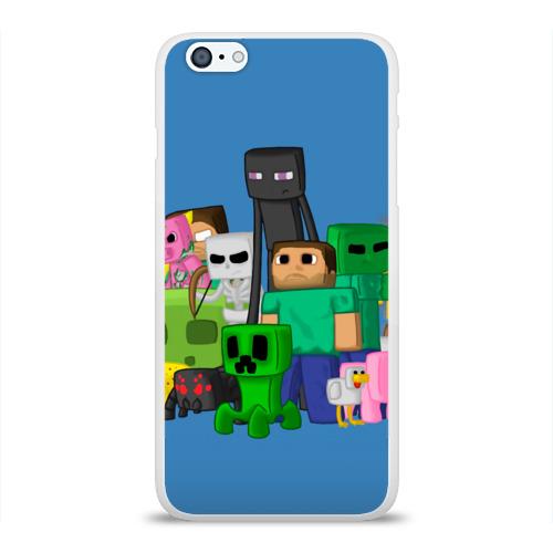 Чехол для Apple iPhone 6Plus/6SPlus силиконовый глянцевый  Фото 01, Майнкрафт