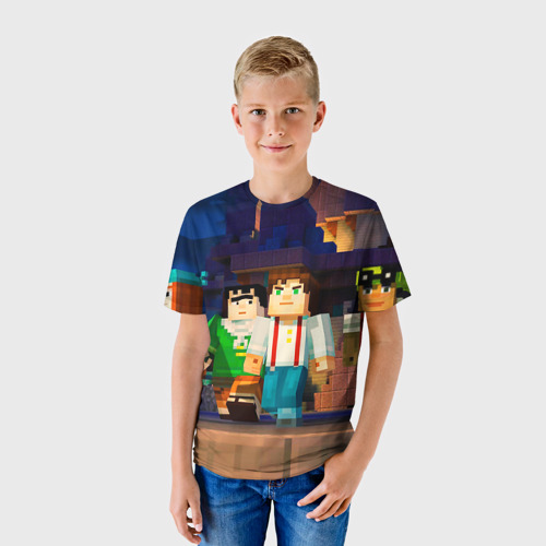 Детская футболка 3D Майнкрафт