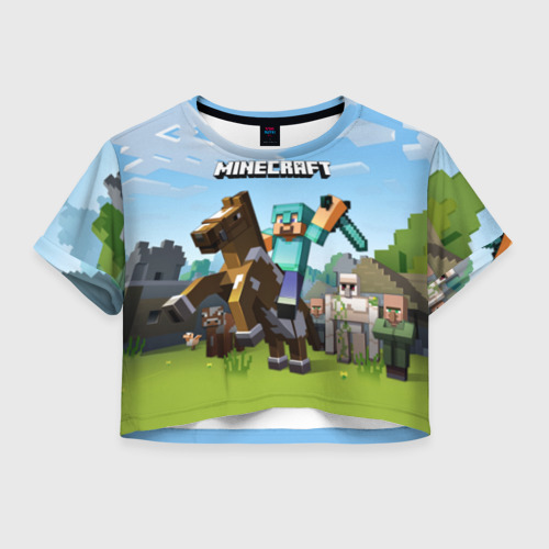 Женская футболка Cropp-top Minecraft на коне Фото 01