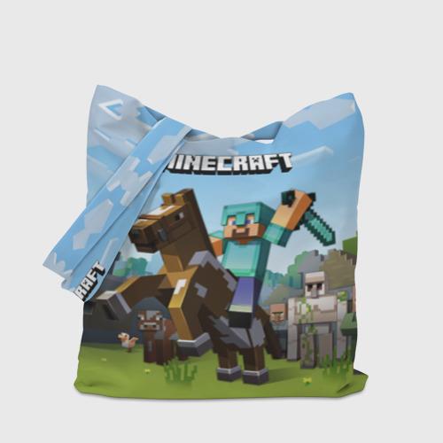 Сумка 3D повседневная Minecraft на коне Фото 01