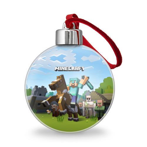 Ёлочный шар Minecraft на коне Фото 01