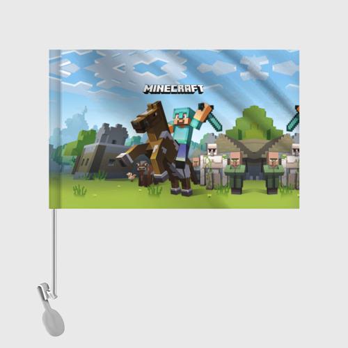 Флаг для автомобиля Minecraft на коне Фото 01
