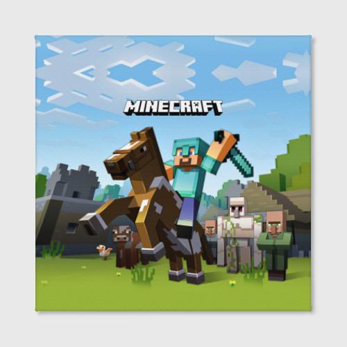 Холст квадратный Minecraft на коне Фото 01