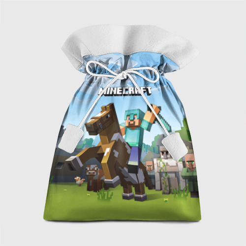 Подарочный 3D мешок Minecraft на коне