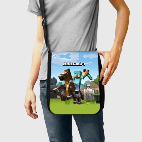 Сумка через плечо Minecraft на коне Фото 01