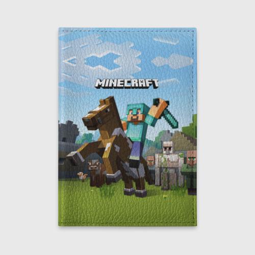 Обложка для автодокументов Minecraft на коне Фото 01