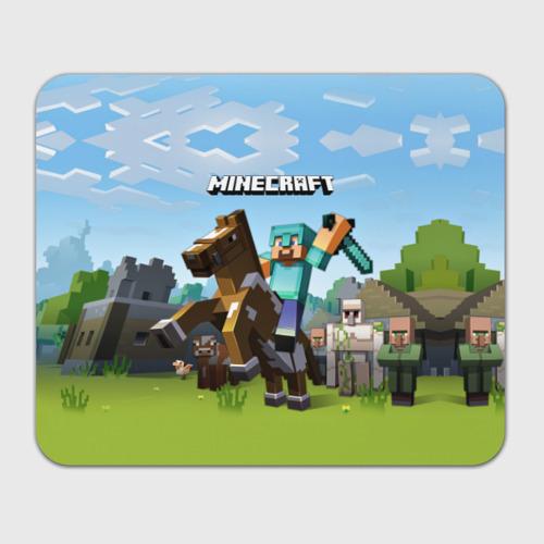 Коврик для мышки прямоугольный Minecraft на коне Фото 01