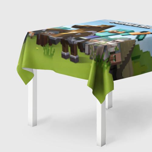 Скатерть 3D  Фото 01, Minecraft на коне
