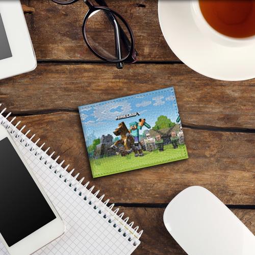 Обложка для студенческого билета Minecraft на коне Фото 01