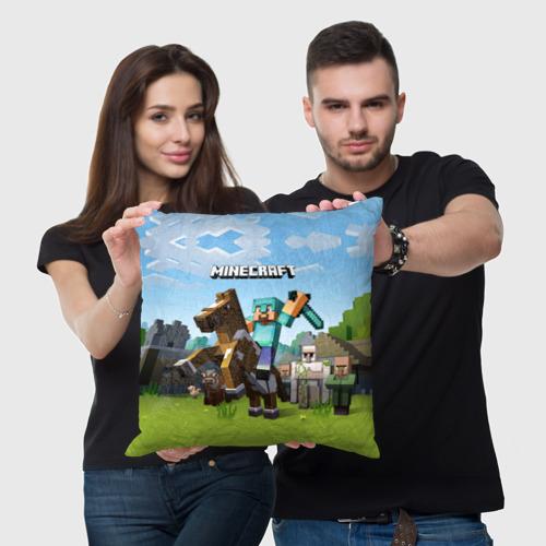 Подушка 3D Minecraft на коне Фото 01