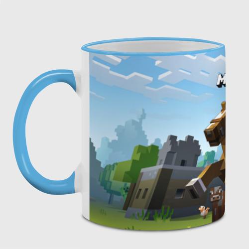 Кружка с полной запечаткой Minecraft на коне Фото 01