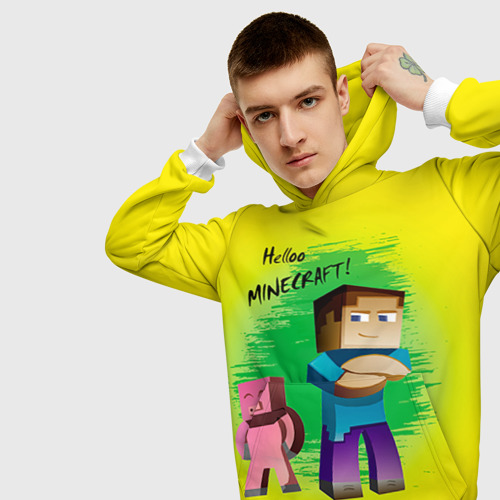 Мужская толстовка 3D  Фото 01, Helloo Minecraft