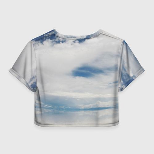 Женская футболка 3D укороченная  Фото 02, Не сдавайся!