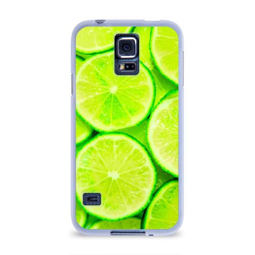 Чехол для Samsung Galaxy S5 силиконовый  Фото 01, Лайм
