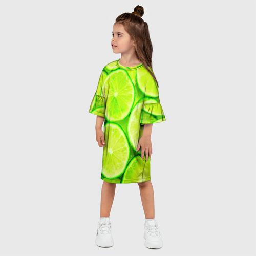 Детское платье 3D  Фото 03, Лайм