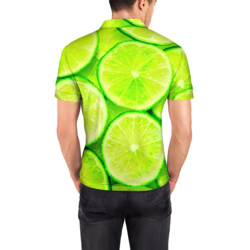 Мужская рубашка поло 3D  Фото 04, Лайм