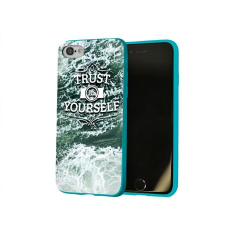 Чехол для Apple iPhone 8 силиконовый глянцевый Верь в себя Фото 01