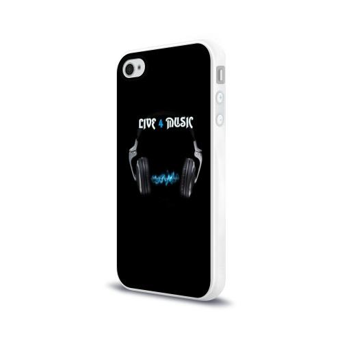 Чехол для Apple iPhone 4/4S силиконовый глянцевый Live 4 music Фото 01