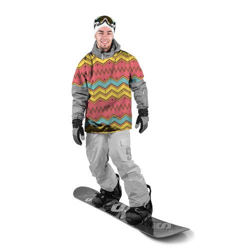 Накидка на куртку 3D  Фото 03, Цветные зигзаги