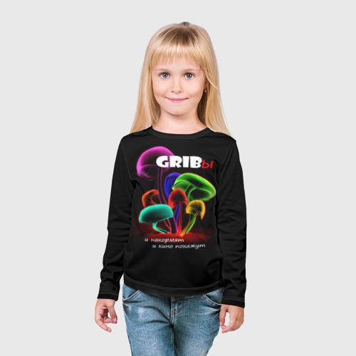 Детский лонгслив 3D  Фото 03, GRIBы