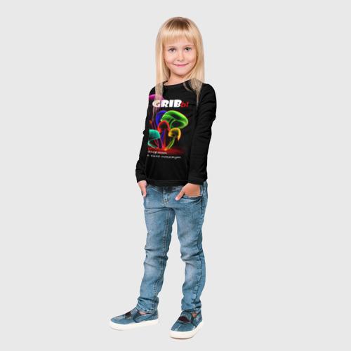 Детский лонгслив 3D  Фото 04, GRIBы