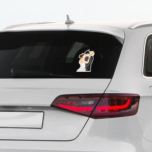 Наклейка на автомобиль  Фото 03, Свадебный поцелуй