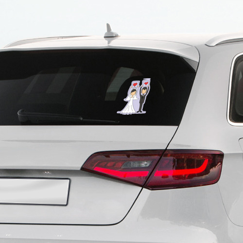 Наклейка на автомобиль  Фото 03, Молодожены