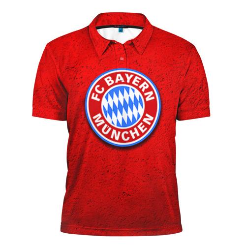 Мужская рубашка поло 3D  Фото 01, Бавария лого